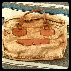 Free People Distressed Duffel Bag